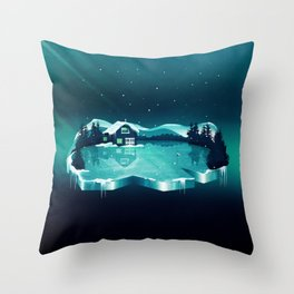Frozen Magic Throw Pillow