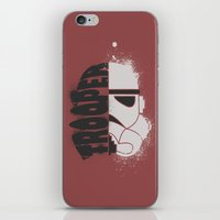 storm trooper iPhone & iPod Skins featuring Storm Trooper by R. Cuddi