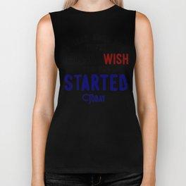 Start Now Take Action Don't Procrastinate Biker Tank
