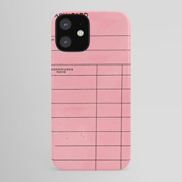Library Card BSS 28 Pink iPhone Case