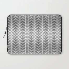 Cool Silver Grey Frosted Geometric Design Laptop Sleeve