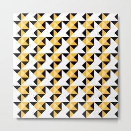 A simple geometric pattern . Triangles . 3 Metal Print
