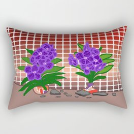 Beautiful Vanda Plants By The Fence Rectangular Pillow