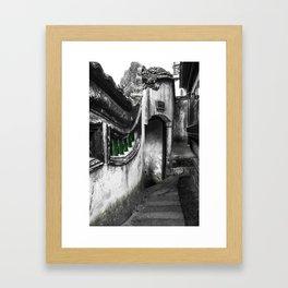 colorless shanghai 8 Framed Art Print