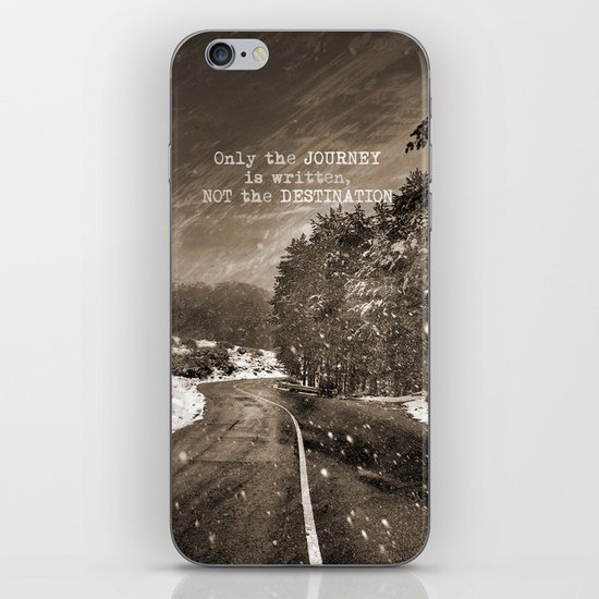 Only the JOURNEY is written NOT the DESTINATION. Vintage Mountains iPhone & iPod Skin