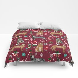 Austrian Cattle Dog red and blue merle christmas presents holiday dog breed pattern pet friendly Comforters
