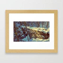 Vaughan's Woods Bridge in Winter Framed Art Print