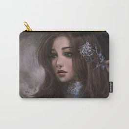 Romantic and elegant girl portrait Carry-All Pouch