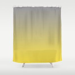 Soft Gradient Ombre Blend Pantone 2021 Color Of The Year Illuminating and Ultimate Gray  Shower Curtain