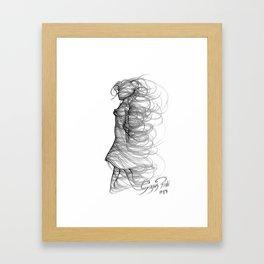 Gentle wind Framed Art Print