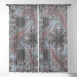 Intricate Fractal Sheer Curtain