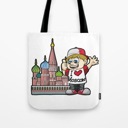 I LOVE MOSCOW Russia Tourist Russian Kremlin Tote Bag