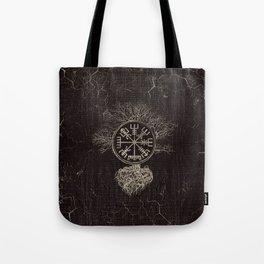 Vegvisir  and Tree of life  -Yggdrasil Tote Bag