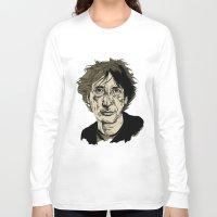 neil gaiman Long Sleeve T-shirts featuring Neil Gaiman by Andy Christofi