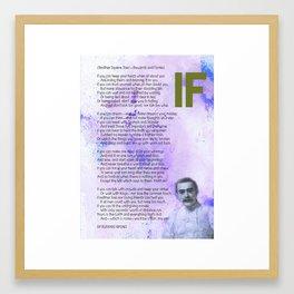 If BY RUDYARD KIPLING v3 Framed Art Print