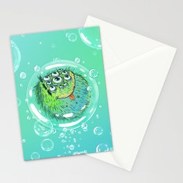 Bacillus B0b on bubble-transport Stationery Cards