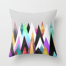 Colorful Peaks Throw Pillow