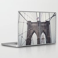 brooklyn bridge Laptop & iPad Skins featuring Brooklyn Bridge by Kameron Elisabeth