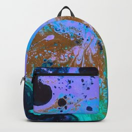 Ultra Violet Abstract Bat Painting by Noora Elkoussy Backpack