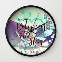 In Between artwork Wall Clock