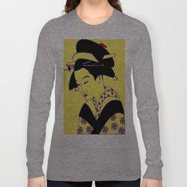 Geisha Portrait Long Sleeve T-shirt