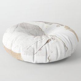 Feels: a neutral, textured, abstract piece in whites by Alyssa Hamilton Art Floor Pillow