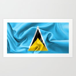 Saint Lucia Flag Art Print