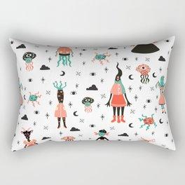 Lovecraft's little girls Rectangular Pillow