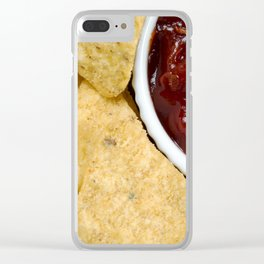 Nachos and Chilli Dip Overhead Clear iPhone Case
