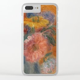 Green Bowl of Flowers Clear iPhone Case