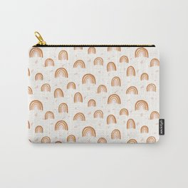 Earthy Terrazzo Rainbows Carry-All Pouch