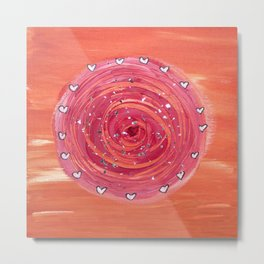 The Flow Painting Series #3: Orange and pink Metal Print