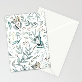 Eucalyptus pattern Stationery Cards