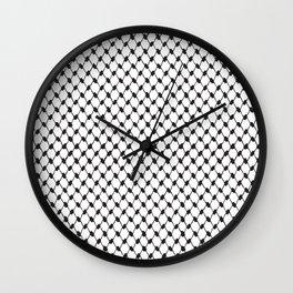 Palestinian koffiyeh Wall Clock