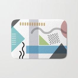 Geometric abstract art, pastel tones shapes and dots print Bath Mat