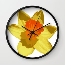 Spring Daffodil Vector Isolated Wall Clock