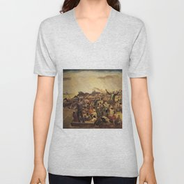 African American Masterpiece 'Mississippi Noah' by John Steuart Curry Unisex V-Neck