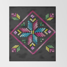 Neon Embroidery Throw Blanket