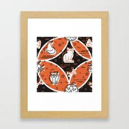 Halloween Pattern 1 Framed Art Print