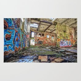 Abandoned old woolen mill factory Rug