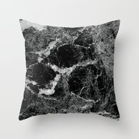 marble Throw Pillows featuring Marble by Three of the Possessed