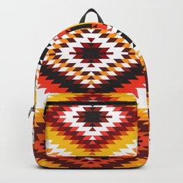 Colorful patchwork mosaic, oriental kilim rug Backpack