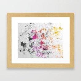 Blotchy Summer Paint Texture on White Framed Art Print
