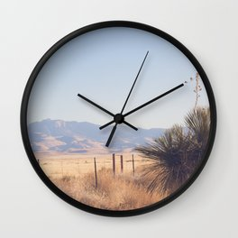 Marfa Morning Light Wall Clock