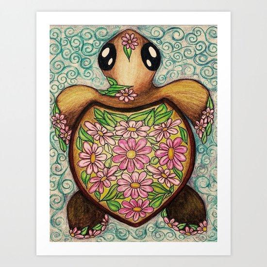 Daisy Do Baby Turtle Art Print