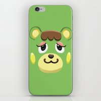animal crossing iPhone & iPod Skins featuring Animal Crossing Charlise by ZiggyPasta