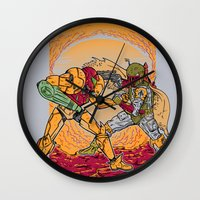 hunting Wall Clocks featuring Bounty Hunting by MeleeNinja