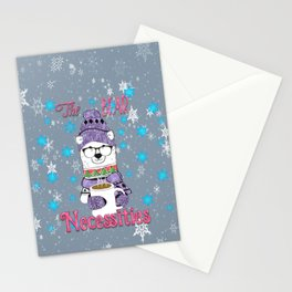 The Bear Necessities In Snow with Coffee Stationery Cards