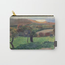 Landscape from Bretagne by Paul Gauguin Carry-All Pouch