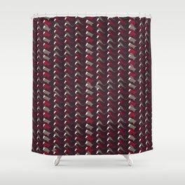 Lovely Dark Red Pattern Shower Curtain